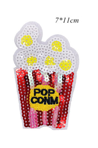 Sequin Popcorn Ice Cream Applique