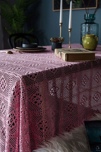 Tassels Hollow Lace Table Cloth