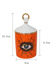 Eyes Ceramics Jar