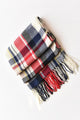 Plaid Tassels Scarf