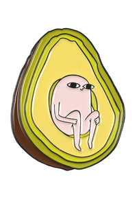 Coffee Cup Avocado Pin