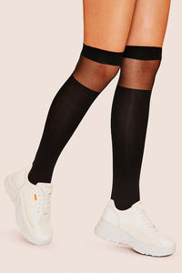 Mesh Knee Length Socks 1pair