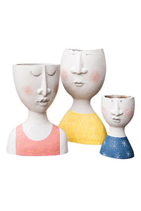 Happy Family Resin Vases