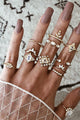 Rhinestone 12 Ring Set
