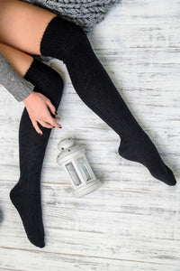 Wool Over The Knee Socks