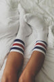Blue Red Stripe Socks