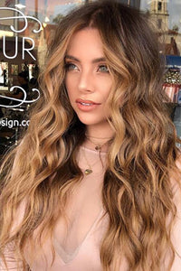Gradual Curly Brown Wig