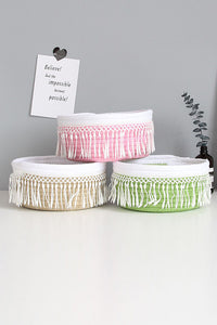 Tassels Cotton Rope Storage Basket