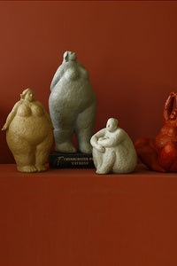 Art Woman Ceramic Pose Decorative Ornaments