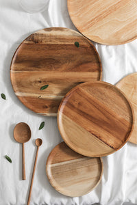 Round Wood Plate