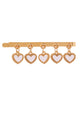 Tassels Heart Hair Clips