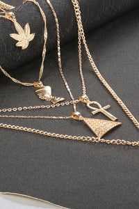 Maple Leaf Egypt Layer Necklace