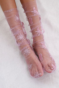 Floral Lace Mesh Socks