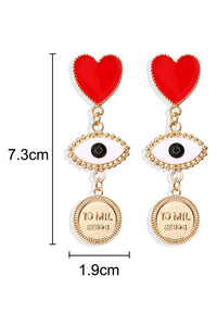 Heart Eye Earrring