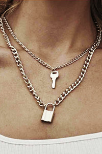 Lock Key Layer Necklace