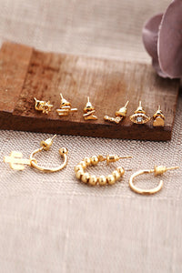 Cactus 9pcs Earring Set