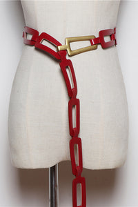 Hollow Color Block Belt