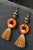 Wood Ring Tassels Earring