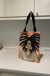 African Woman Canvas Bag