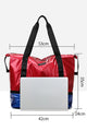 Double Layers Tote Bag with Bottom Shoes Compartment