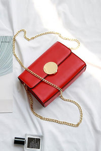 Metal Square Chain Shoulder Bag