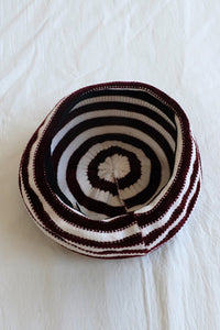 Stripe Knit Beret Hat