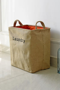 Linen Yellow Lanudry Bag