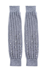 Beaded Cable Knit Leg Warmers
