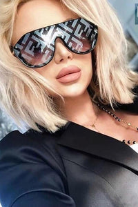 One Pieces Square Mirror Sunglasses