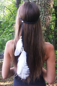 Feather Beads Hairband