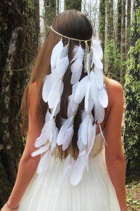 Bohemian Feather Tassels Hair Band