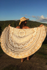 Hippie Boho Beach Round Towel