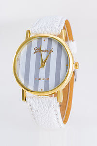 Stripe Leather Watch
