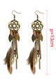 Feather Dreamcather Earring