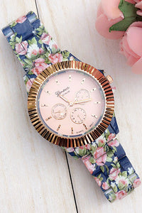 Gear Floral Print Watch