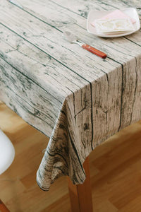 Wood Grain Tablecloth