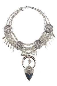 Leaf Tassles Chian Layer Necklace