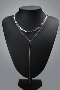 Simple Metal Sequin Necklace