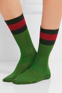 Color Block Stripe Socks