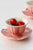 Pink Cherry Ceramic Tea Cup Set
