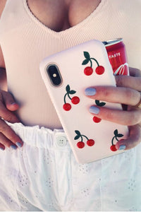 Embroidery Cherry iPhone Case