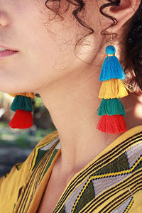 Gradient Tassels Layer Earring