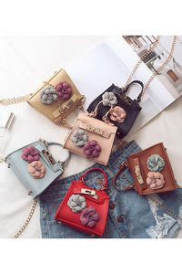 Flower Decoration Shoulder Bag