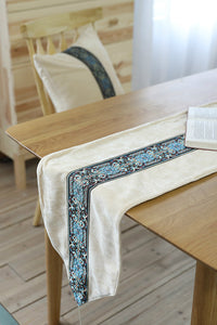 Embroidery Velvet Table Runner