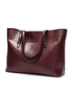 Soft Leather Large Tote Shoulder Bags