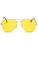 Classics Aviator Yellow Sunglasses