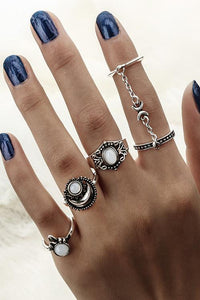 Chains Stone Rings Sets