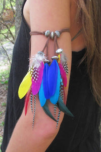 Colorful Feather Arm Chains