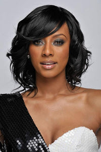 Short Curly Bob Black Wig