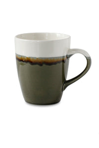 Color Block Ceramics Mug